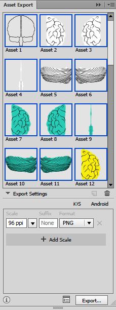 Adobe Illustrator Asset Export