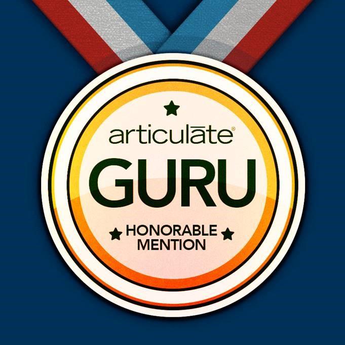 Articulate Guru Award Winner