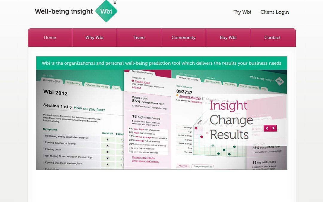 Well-being Insight Marketing Website