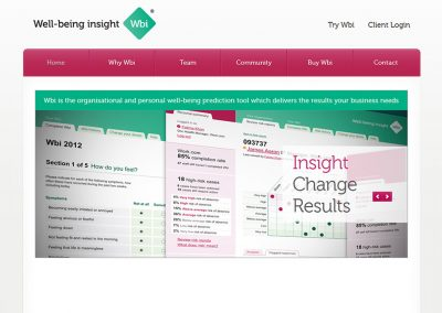 Well-being Insight Marketing Website