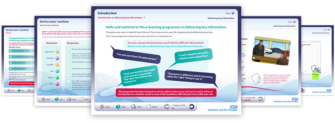 NHS Delivering Difficult Information eLearning Examples