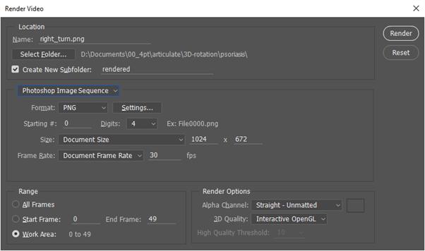Adobe Photoshop Render Pane Options