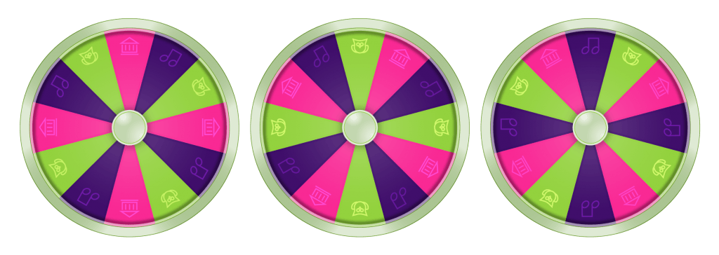 Static Spinning Wheel Graphics