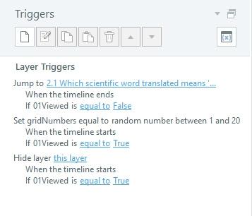 Storyline 360 Quiz Triggers