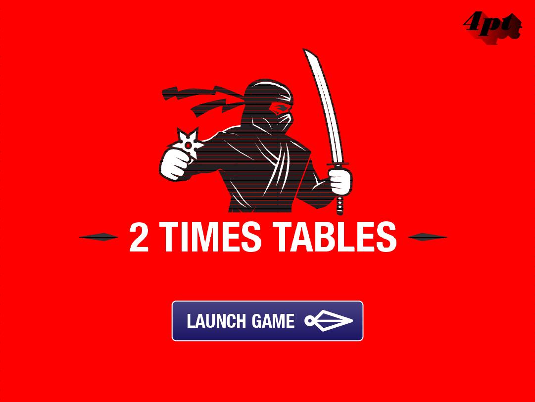 Multiplication Tables Ninja Maths Game