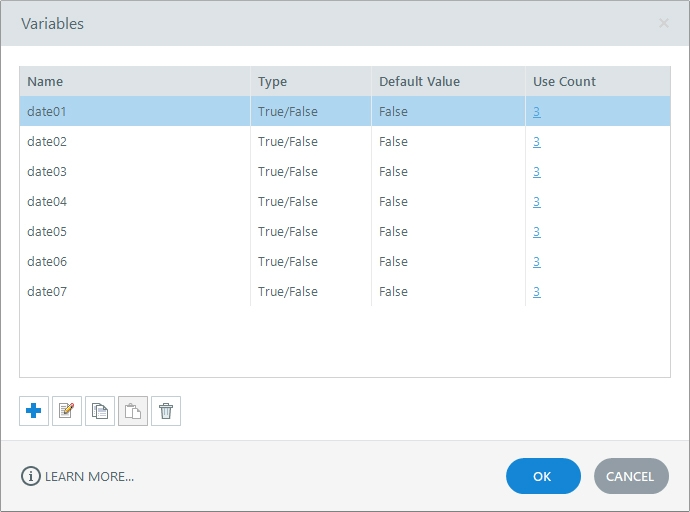 Storyline 360 Variable Manager