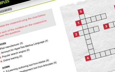 Articulate Storyline 360 Crossword Puzzle