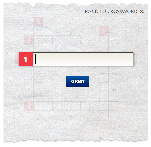 Crossword text-entry box