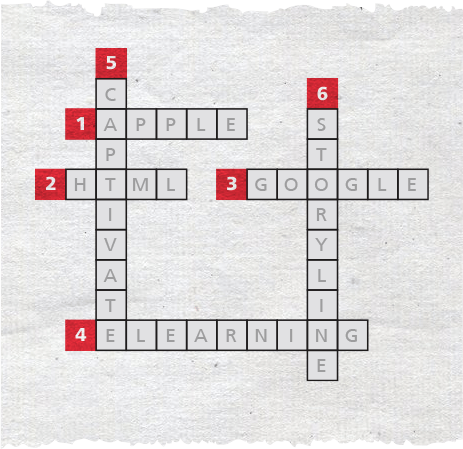 Storyline crossword puzzle with answers faded